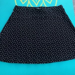 NWT Ann Taylor Loft polka dot navy and white skirt